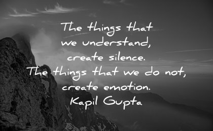 best quotes things understand create silence emotion kapil gupta wisdom nature