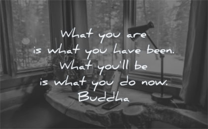 buddha quotes what you are have been will be now wisdom computer home office