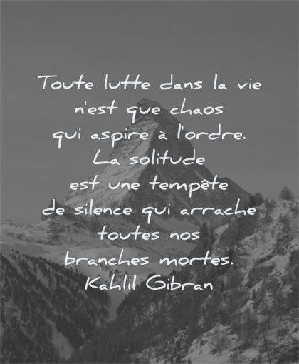 citations toute lutte dans vie chaos aspire ordre kahlil gibran wisdom montagne nature