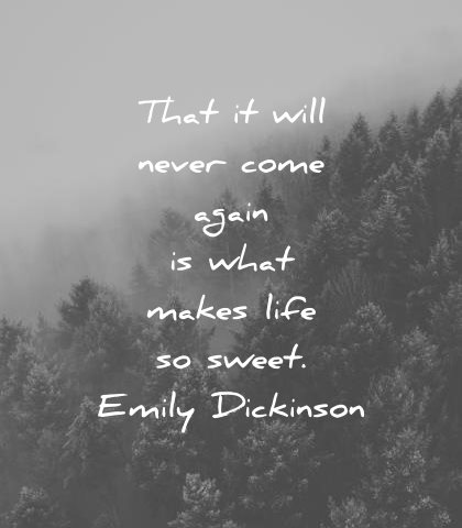 death quotes that will never come again what makes life sweet emily dickinson wisdom