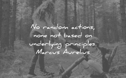 discipline quotes random actions none based underlying principles marcus aurelius wisdom