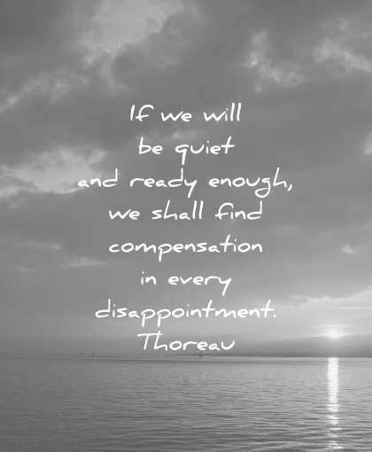 failure quotes will quiet ready enough shall find compensation every disappointment henry david thoreau wisdom