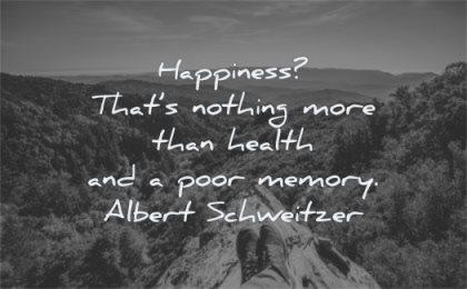 happiness quotes nothing more than health poor memory albert schweitzer wisdom nature