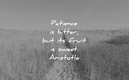 hope quotes patience bitter its fruit sweet aristotle wisdom