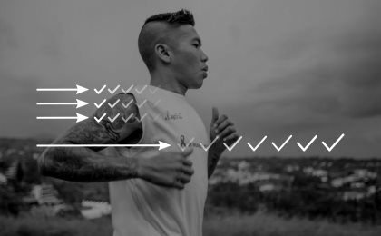 inspirational quotes say instant gratification massive long term gains maxime lagace wisdom graphic asian man running