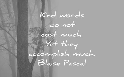 kindness quotes kind words not cost much yet they accomplish much blaise pascal wisdom