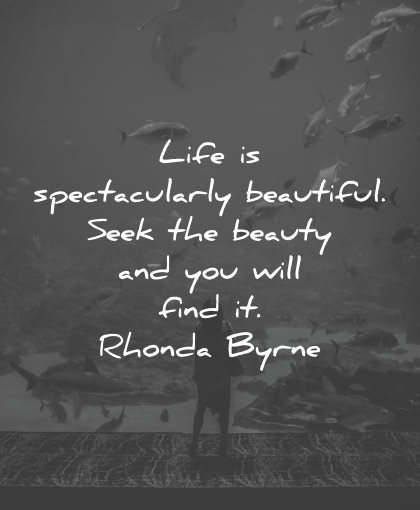 life is beautiful quotes spectacularly rhonda byrne wisdom