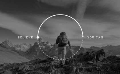 life quotes believe halfway there theodore roosevelt wisdom graphic man hiking mountains