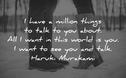 love quotes for her have million things talk about world haruki murakami wisdom couple