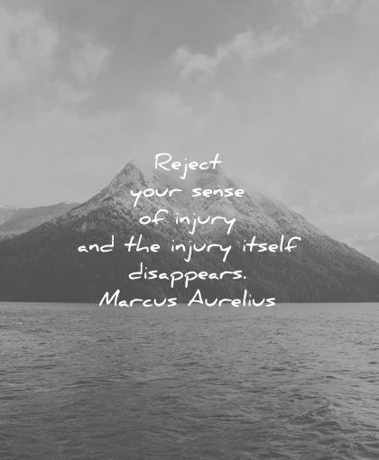 marcus aurelius quotes reject your sense injury itself disappears wisdom