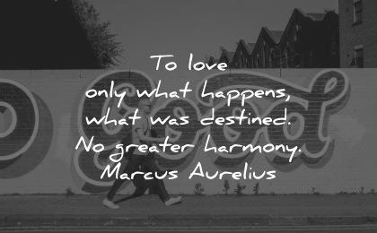 marcus aurelius quotes love only what happens destined greater harmony wisdom man walking street
