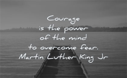 martin luther king jr quotes courage power mind overcome fear wisdom water dock