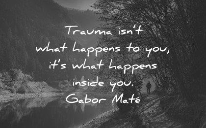 mental health quotes trauma what happens inside gabor mate wisdom