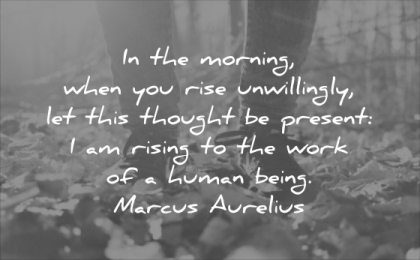 monday motivation quotes morning when you rise unwillingly this thought present rising the work human being marcus aurelius wisdom