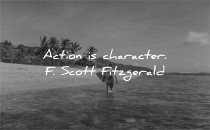 motivational quotes action character scott fitzgerald wisdom water surf beach man