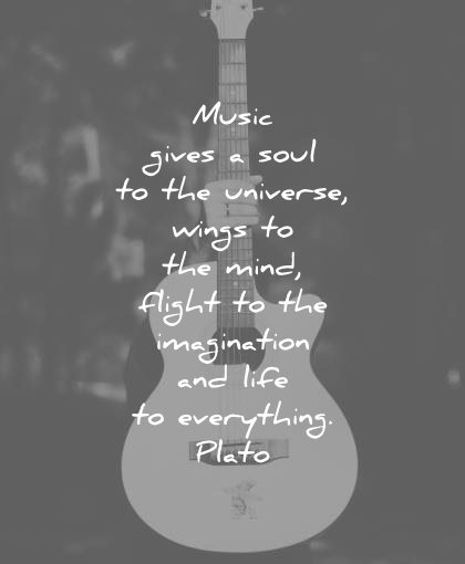 music quotes gives soul universe wings mind flight imagination life everything plato wisdom