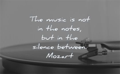 music quotes notes silence between mozart wisdom disc