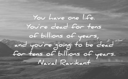 naval ravikant quotes you have one life dead for tens billions years going wisdom