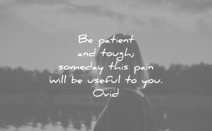 patience quotes tough someday this pain will be useful you ovid wisdom