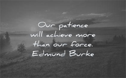 patience quotes will achieve more than force edmund burke wisdom sunrise nature