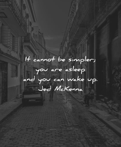 reality quotes cannot simpler asleep wake jed mckenna wisdom