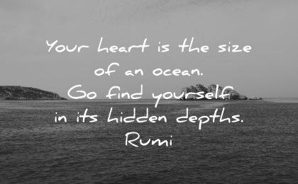 rumi quotes your heart size ocean find yourself hidden depths wisdom