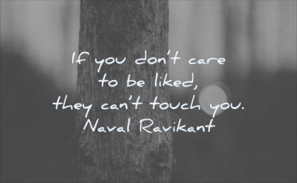self respect quotes you dont care liked they cant touch naval ravikant wisdom tree