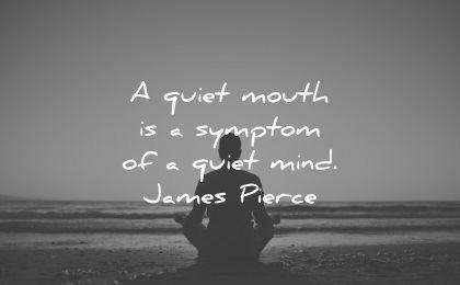 serenity quotes quiet mouth symptom mind james pierce wisdom man sitting beach