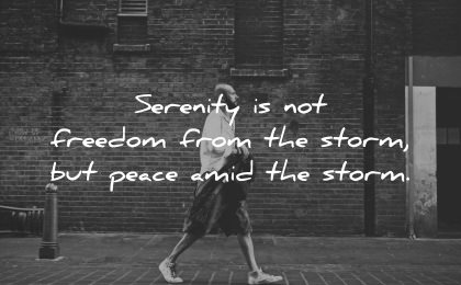 serenity quotes not freedom from storm peace amid wisdom man walking street