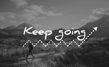 short inspirational quotes keep going wisdom man walking nature