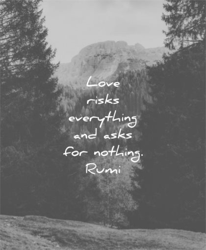 short love quotes risks everything asks for nothing rumi wisdom
