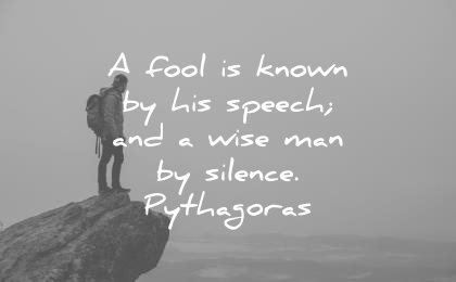 silence quotes fool known his speech wise man pythagoras