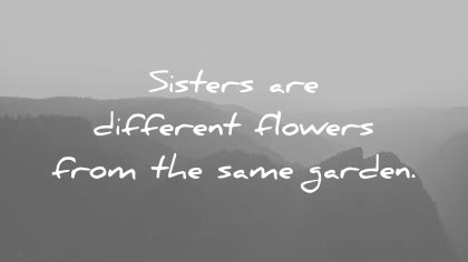 sister quotes are different flowers from same garden unknown wisdom