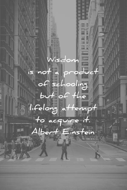 words of wisdom quotes not product schooling the lifelong attempt acquire albert einstein